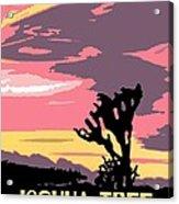 Joshua Tree National Park Vintage Poster Acrylic Print