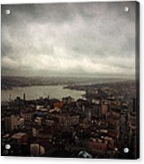jour de pluie a Istanbul III Acrylic Print
