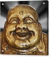Jovial Buddha Acrylic Print