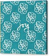 Joy Boho Floral Print Acrylic Print