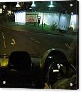 Joy Ride At Mid Night In Paris View From Rear   Of Limo Acrylic Print