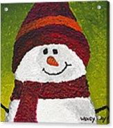 Joyce The Snowman Acrylic Print