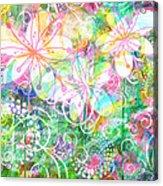 Joyful Flowers By Jan Marvin Acrylic Print