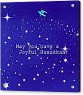 Joyful Hanukkah Card  Acrylic Print