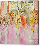 Joyful Noise Acrylic Print by Sidney Holmes