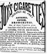 Joys Cigarettes, 1884 Acrylic Print