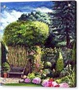 Joy's Garden Acrylic Print