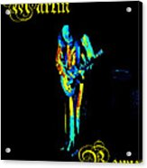 Jt #67 In Cosmicolors With Text Acrylic Print