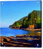 Juan De Fuca Shoreline Acrylic Print