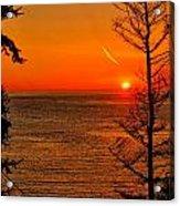 Juan De Fuca Sunset Acrylic Print