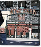 Juan Marichal At San Francisco Att Park . 7d7640 Acrylic Print by Wingsdomain Art and Photography