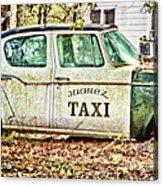 Juarez Taxi Acrylic Print