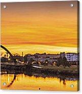 Jubia Bridge Panorama Neda Naron Galicia Spain Acrylic Print