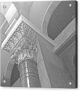 Jubilee Synagogue Black And White Acrylic Print