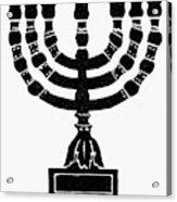 Judaism Candelabra Acrylic Print