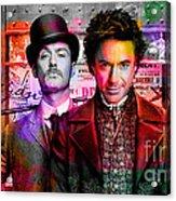 Jude Law And Robert Downey Jr Acrylic Print