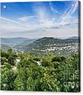 Judean Foothills Landscape Acrylic Print