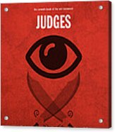 Judges Books Of The Bible Series Old Testament Minimal Poster Art Number 7 Acrylic Print