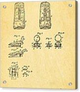 Judson Zipper Patent Art 1893 Acrylic Print