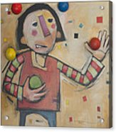 Juggler With Balls  Acrylic Print