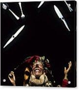 Jester Juggling Acrylic Print