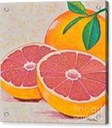 Juicy Pink Grapefruit Acrylic Print