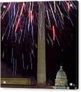 July 4th Fireworks Acrylic Print by JP Tripp