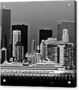 July 7 2014 - Carnival Splendor At New York City - Image 1674-02 Acrylic Print