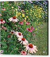 July Garden Acrylic Print