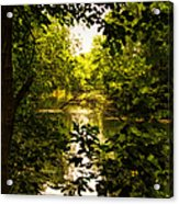 July Indian Lake Looking North Acrylic Print