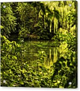 July Tranquil Indian Lake Acrylic Print