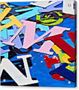 Jumble Of Letters Acrylic Print