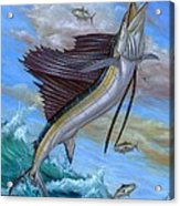 Jumping Sailfish Acrylic Print