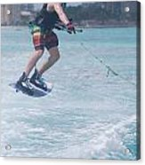Jumping Wakeboarder Acrylic Print