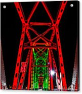 Junction Bridge - Red Acrylic Print