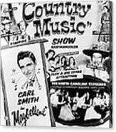 June Carter Cash Acrylic Print by Silver Screen