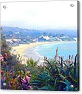 June Gloom Morning At Laguna Beach Coast Acrylic Print