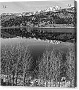 June Lake Black And White Acrylic Print