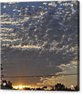 June Sunrise From The Series The Imprint Of Man In Nature Acrylic Print