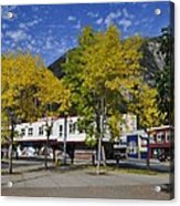 Juneau In The Fall Acrylic Print