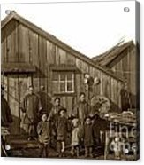 Jung San Choy And Chinese Family Pescadero Village Pebble Beach California Circa 1895 Acrylic Print