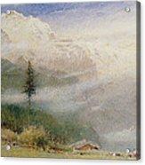 Jungfrau, 1913 Acrylic Print by Albert Goodwin