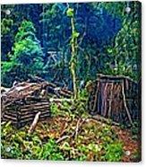Jungle Homestead Acrylic Print