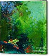 Jungle Rains I Acrylic Print by Tracy L Teeter