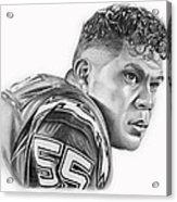 Junior Seau Acrylic Print by Don Medina