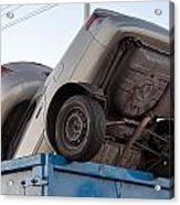 Junk Cars In Dumpster Cash For Clunkers Acrylic Print