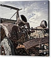 Junk Yard Sentinel Stands  Acrylic Print