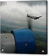Junkers Ju-52 Flight Under Dark Clouds Acrylic Print