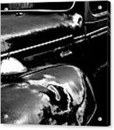 Junkyard Series Old Plymouth Black And White Acrylic Print