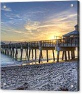 Juno Beach Pier At Dawn Acrylic Print
